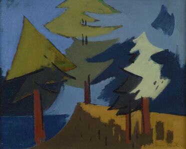 Herman Maril, 'Trees, Maine', 1962