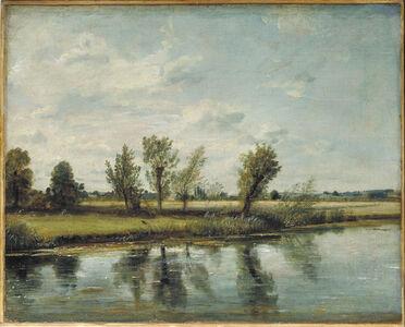 John Constable, 'Watermeadows near Salisbury', 1829/30