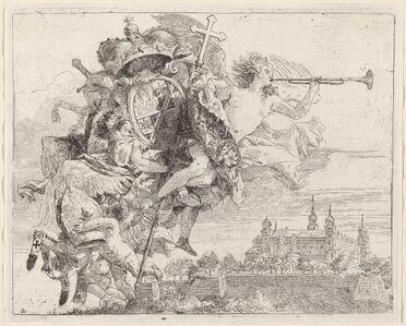 Giovanni Domenico Tiepolo, 'Arms of Karl Philip von Greiffenklau, Prince-Bishop of Wurzburg', published 1753