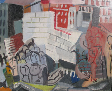Vaclav Vytlacil, 'City Scene with Faces', 1932