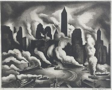 Howard Cook, 'Harbor Skyline', 1930