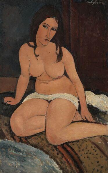 Amedeo Modigliani, 'Seated Nude', 1917