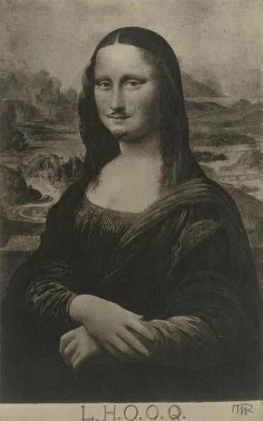 "Man Ray, 'Mona Lisa as seen by Duchamp (""La Joconde"" vue par Duchamp).', 1921-1922"