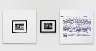 Joseph Kosuth, 'One and three photograph (Eng.-German)', 1965