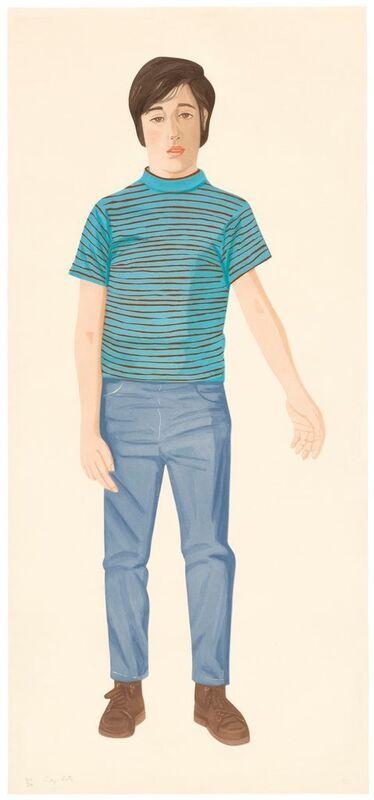 Alex Katz, 'The Striped Shirt', 1980 , Print, Colour aquatint on Arches-paper, Ludorff