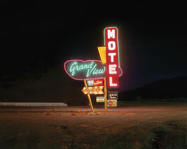 Steve Fitch, 'Grand View Motel, Raton, New Mexico, 12/18/80', 1980 -Printed 2015