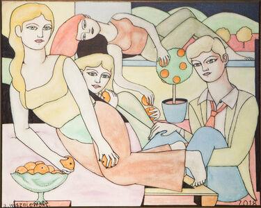 Adrian Wiszniewski, 'The Orange Eaters', 2019