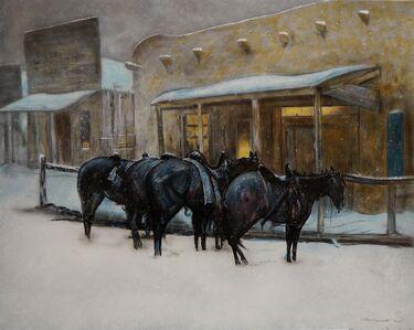 "Nathan Bennett, 'In Reflection of a Winter Evening (after Oscar E. Berninghaus painting titled ""Winter Evening Taos"")', 2020"