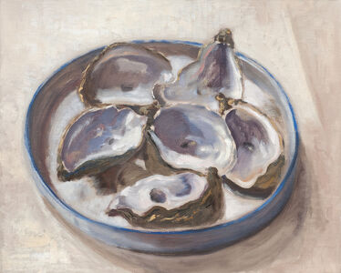 Guy de Malherbe, 'Reliefs - Restes d'un repas d'huîtres', 2019