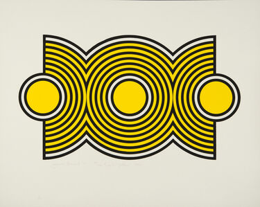 Harold Krisel, 'Trio Ripple Yellow', 1971