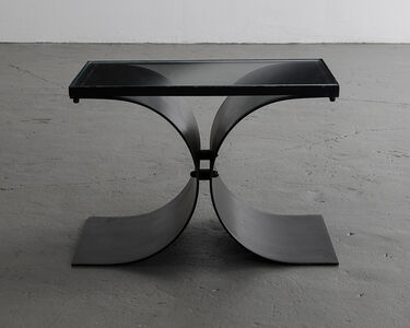 Oscar Niemeyer, 'Coffee table in painted metal with a glass top', ca. 1960