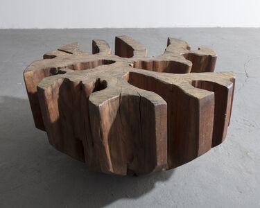 José Zanine Caldas, 'Sculptural coffee table base in solid wood', 1970-1979