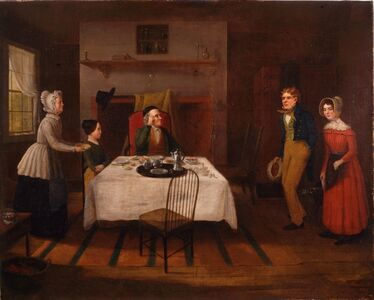 Jerome Thompson, 'The Country Parson Disturbed at Breakfast by a Couple Wishing to be Married.', 1848