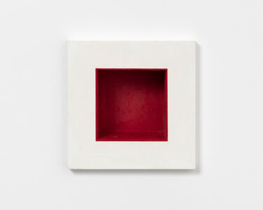 Jackie Winsor, 'Inset Wall Piece White with Red Interior', 1988-1989