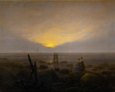 Caspar David Friedrich, 'Moonrise on the Seashore', 1821