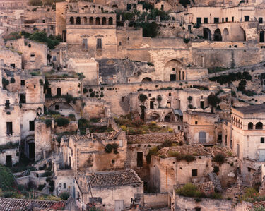 Laura McPhee, 'Caves Used as Dwellings since Prehistoric Times, Modified with Tufa Façades, Now under Restoration, Matera Italy, 1994, from the series No Ordinary Land', 1994