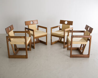 """Sergio Rodrigues, 'Set of Four """"Cuiabá"""" Dining Chairs', 1985"""