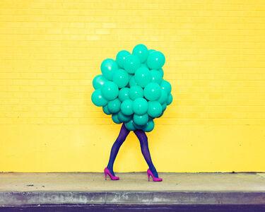 Ramona Rosales, 'Je Ne Suis Pas Seul Sans Toi (Green Balloons)', 2013