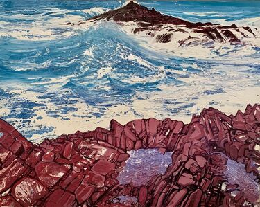 Michael Sole, 'Seaspray, Red rocks no.5', 2014