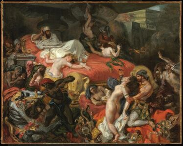 Eugène Delacroix, 'The Death of Sardanapalus (reduced replica)', 1846