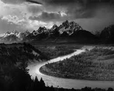 Ansel Adams, 'Grand Tetons and Snake River, Wyoming ', 1948