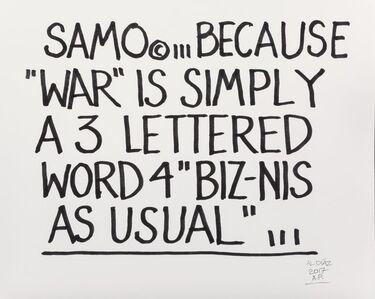 Al Diaz, 'Samo (two works)', 2017