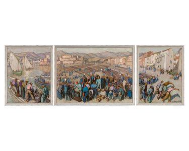 Jac Martin-Ferrieres, 'Triptych: Collioure', 1933