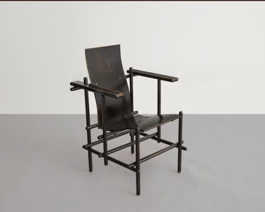 "Gerrit Thomas Rietveld, '""Billet"" High-Backed Armchair', 1924"