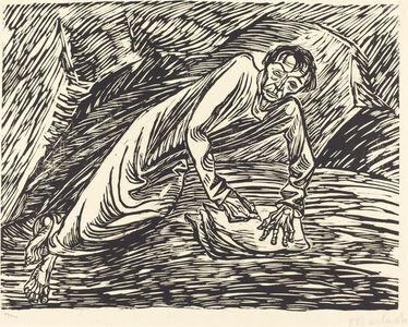 Ernst Barlach, 'The Writing Prophet (Saint John on Patmos)', 1919