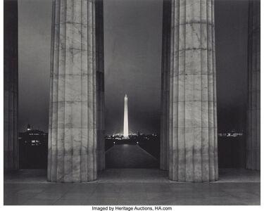 Volkmar Kurt Wentzel, 'Que Street Bridge; Washington Monument', 1936