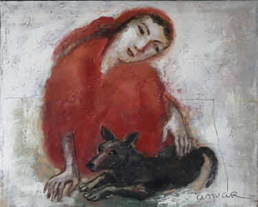 Anwar Abdoullaev, 'Girl with Dog', 2019