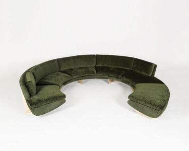 "Georgis & Mirgorodsky, '""Whalebone"" Curved Sofa With Ottoman', 2014"