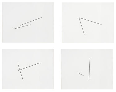 Fred Sandback, 'Four Variations of Two Diagonal Lines', 1976