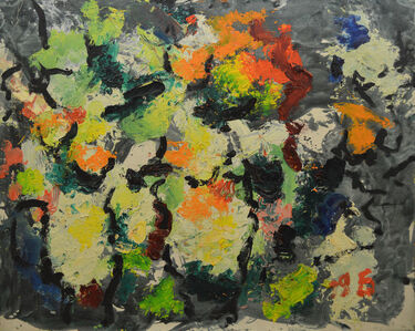 Aron Froimovich Bukh, 'Flowers in jars', ca. 1995