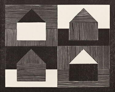 Jennifer Losch Bartlett, 'Black, Grey, White (from NARAL Portfolio)', 1991