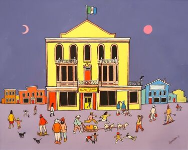 Ted Harrison, 'Dawson City Theatre', 1971