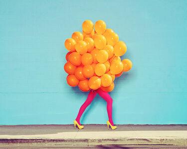 Ramona Rosales, 'Je Ne Suis Pas Seul Sans Toi (Orange Balloons)', 2013