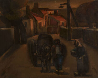 Josef Herman RA, 'The Road to la Rochepot', 1952-1953