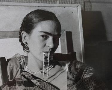 Lucienne Bloch, 'Frida biting her necklace , 1933', 1933
