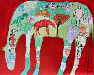 Casey McGlynn, 'Dinosaur Horse', 2018