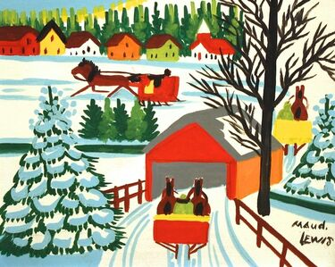 Maud Lewis, 'Covered Bridge in Winter'