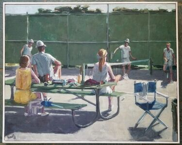 Roger Edward Kuntz, 'Spectators', 1962