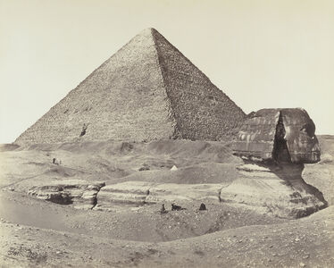Francis Frith, 'The Great Pyramid and the Sphinx', 1858