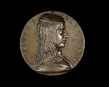 Niccolò Fiorentino, 'Alfonso I d'Este, 1476-1534, 3rd Duke of Ferrara, Modena and Reggio 1505 [obverse]', 1492
