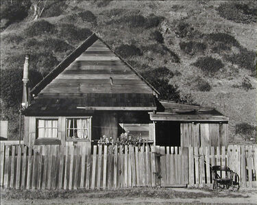 Willard Van Dyke, 'House and Chair, Northcoast', 1937-printed later