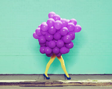 Ramona Rosales, 'Je Ne Suis Pas Seul Sans Toi (Purple Balloons)', 2013