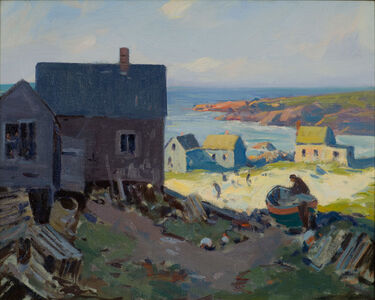 Charles Curtis Allen, 'Maine Fishing Shacks', 19th -20th Century