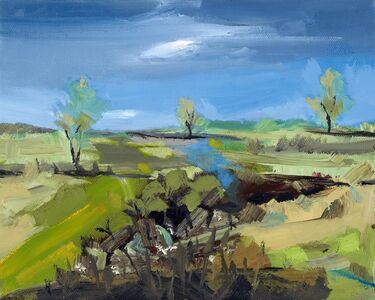 Simon Andrew, 'Spring Three Trees', 2017