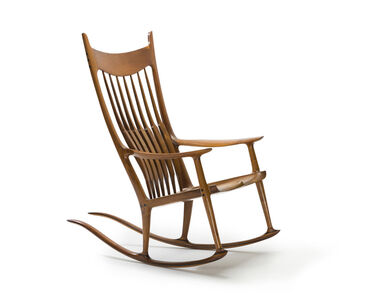Sam Maloof, 'Spindle-back rocking chair', 2002