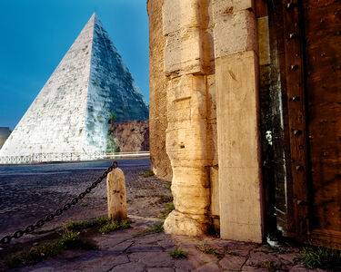 Shimon Attie, 'At Pyramide, on-location slide projection, Rome, Italy', 2003